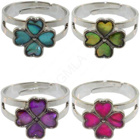 Zinc Alloy Clover Rings