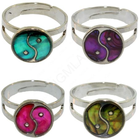 Y/Yang Paua Shell Rings Jewelry Jewelry