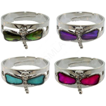 Dragonfly Paua Shell Rings Jewelry Jewelry