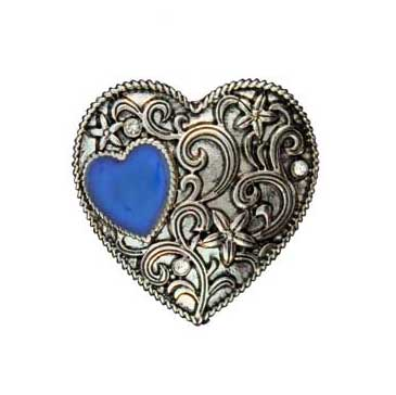 Zinc Alloy Ring Rhodium Heart Ring W/Mood Stone Jewelry