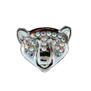 Zinc Alloy Bear Head Rings