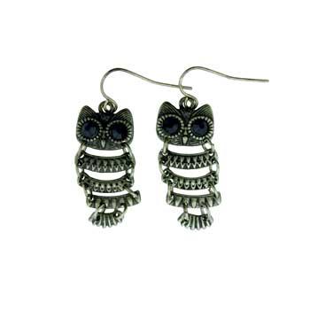Zinc Alloy Owl Earrings