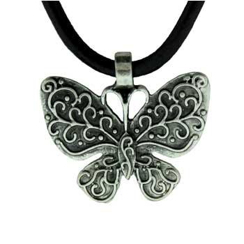 Zinc Alloy Butterfly Necklaces