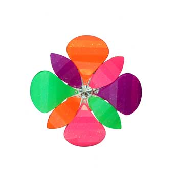 Zinc Alloy Ring Rhodium Multicolor Flower Ring Jewelry