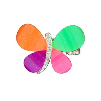 Zinc Alloy Ring Rhodium Multicolor Butterfly Ring Jewelry