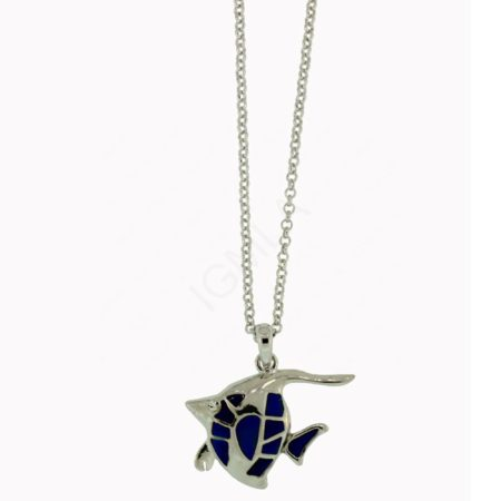 Mood Stone Fish Necklace Jewelry