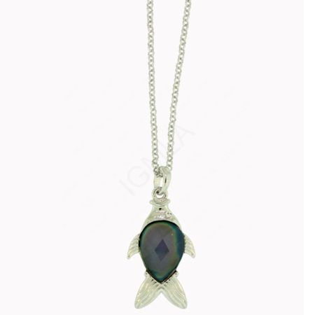 Mood Stone Fish Pendant Jewelry