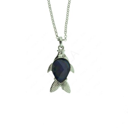 Zinc Alloy Fish Necklaces