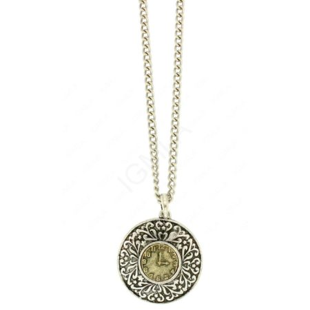 Zinc Alloy Clock Necklaces