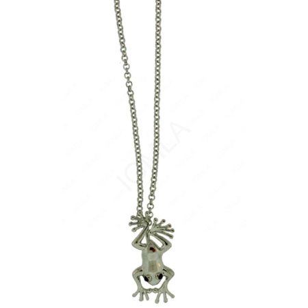 Zinc Alloy Frog Necklaces