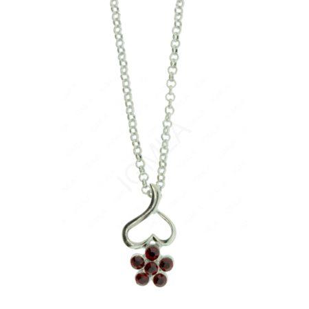 Zinc Alloy Flower Necklaces