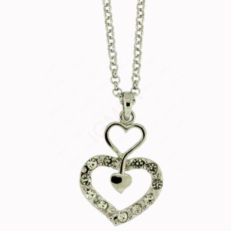 N Zinc Alloy Heart Necklace. Jewelry
