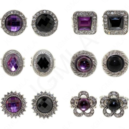 Finger Ring Black/Purple Formic Stone Jewelry Jewelry