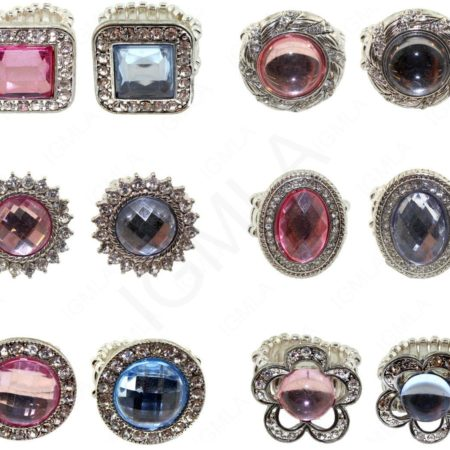 Finger Ring Pink/Blue Formic Stone Jewelry Jewelry