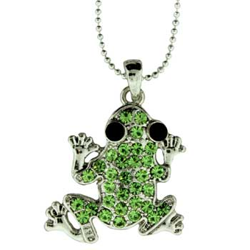 Zinc Alloy Frog Necklaces