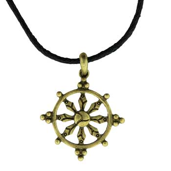 Zinc Alloy Neck. Gold Burnished Compass Pend. W/Cord Jewelry