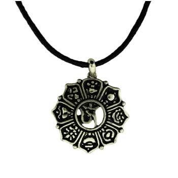 Zinc Alloy Om Necklaces