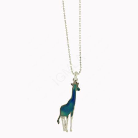 Mood Stone Giraffe Necklace Jewelry