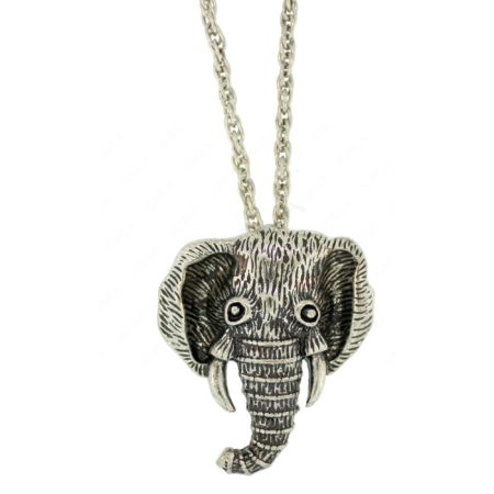 Zinc Alloy Elephant Head Necklaces