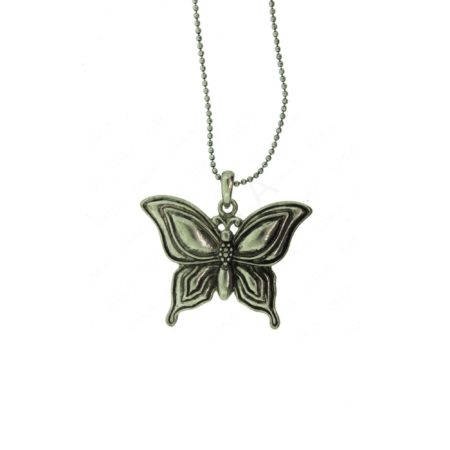 Zinc Alloy Butterfly Necklaces
