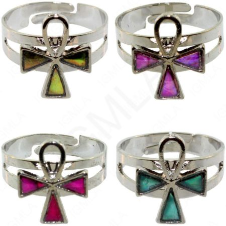 Ankh Paua Shell Rings Jewelry Jewelry