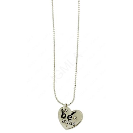 Zinc Alloy Heart Necklaces
