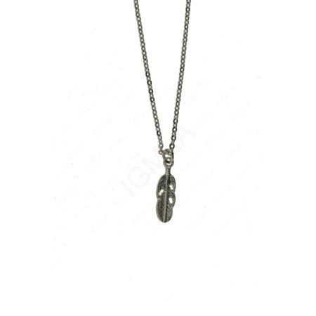 Zinc Alloy Feather Necklaces
