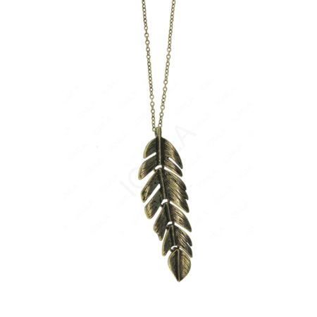 Zinc Alloy Feather Necklaces