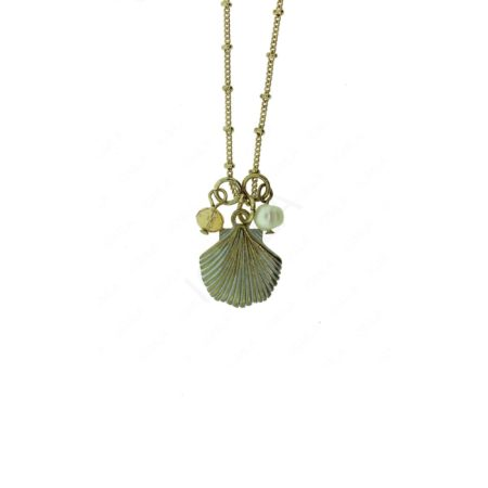 Zinc Alloy Shell & Pearl Necklaces