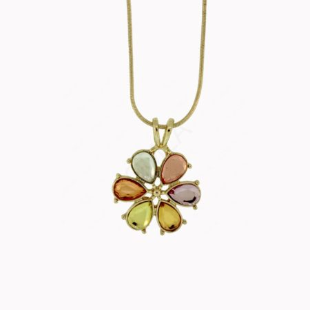 G/P Mix Colors Flower Necklace Jewelry
