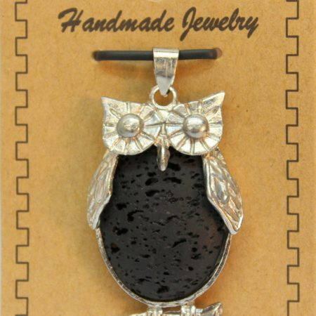 26X48mm Owl Lava Pendant Jewelry