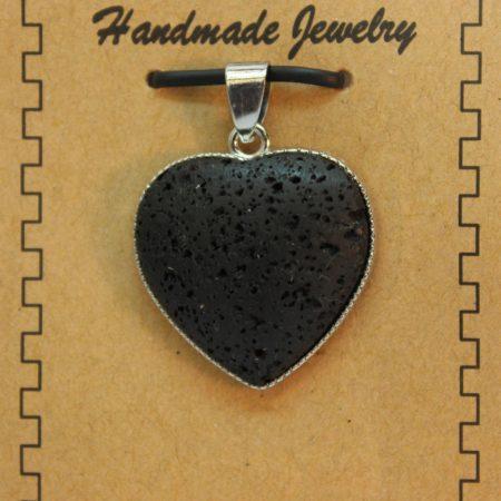 Lava Heart Pendants