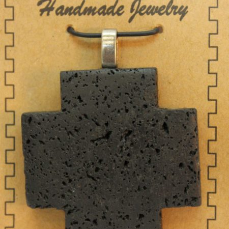 40mm Cross Lava Pendant Jewelry