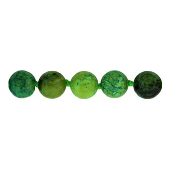 "8mm Plain 32"" Knotted Round Dyed Blue / Green Chrysocolla # 041 Beads"