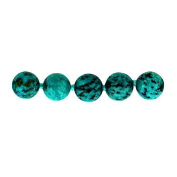 "8mm Plain 32"" Knotted Round Dyed Light Turquoise Jasper # 061 Beads"