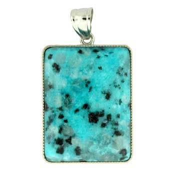 Aqua Quartz Dyed Rectangle Pendants