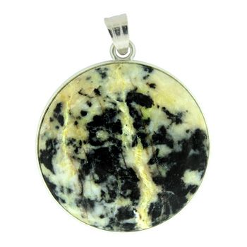 White Turquoise Jasper Coin Pendants