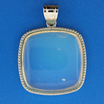 36X41mm Bail & Frame Classic Square Opalite Glass Jewelry