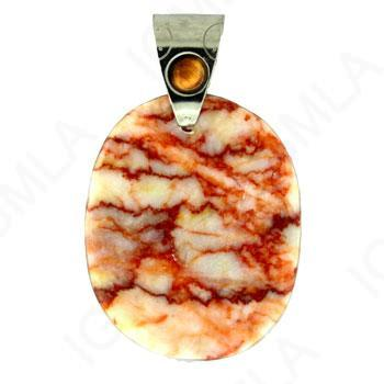 Pink Web Jasper Freeform Pendants