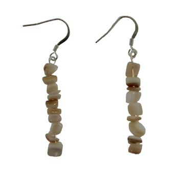 Mother Of Pearl Chip Earrings