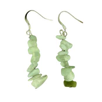 Adjustable Cord/Card Chips Earrings New Serpentine Jewelry