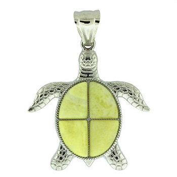 42X48mm Swimming Turtle Pineapple Jasper Jewelry