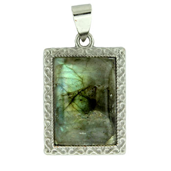 19X29mm Ssp#6 Rectangle Labradorite Jewelry