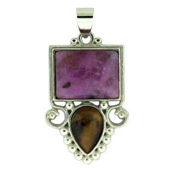 Dyed Purple Quartz Glass Rectangle Pendants