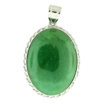 35X50mm Fancy Classic Oval Green Aventurine Jewelry