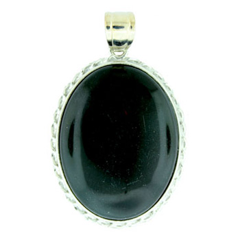 35X50mm Fancy Classic Oval Syn. Black Agate Jewelry