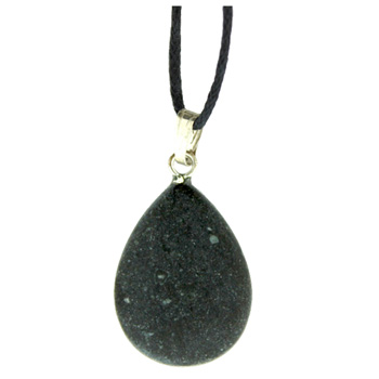 Assorted Shapes Frosted Black Stone 16X22mm Pear Jewelry