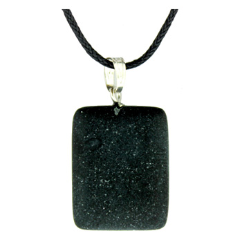 Assorted Shapes Frosted Black Stone Rectangle 16X22mm Jewelry