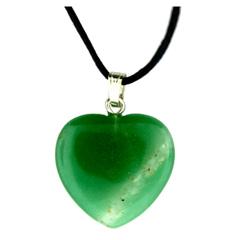 Assorted Shapes Green Aventurine Heart 20mm Jewelry