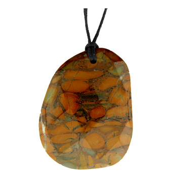 37-46mm Faceted Freeform Bamboo Jasper Jewelry